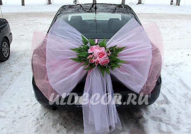 Как сделать бант на свадебную машину своими руками